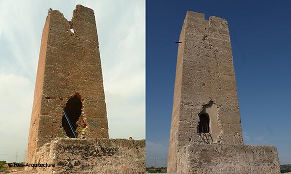 Torre Bofilla. Antes y después de la obra