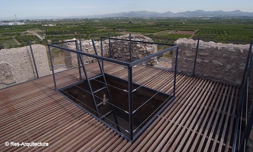 Torre Bofilla. vista desde el paso de guardia