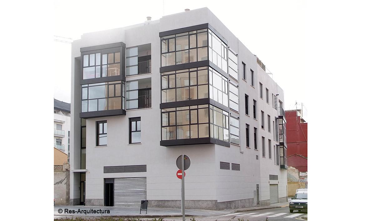 Ampliación edif. viviendas. Vista C/ Jerónimo Monsoriu