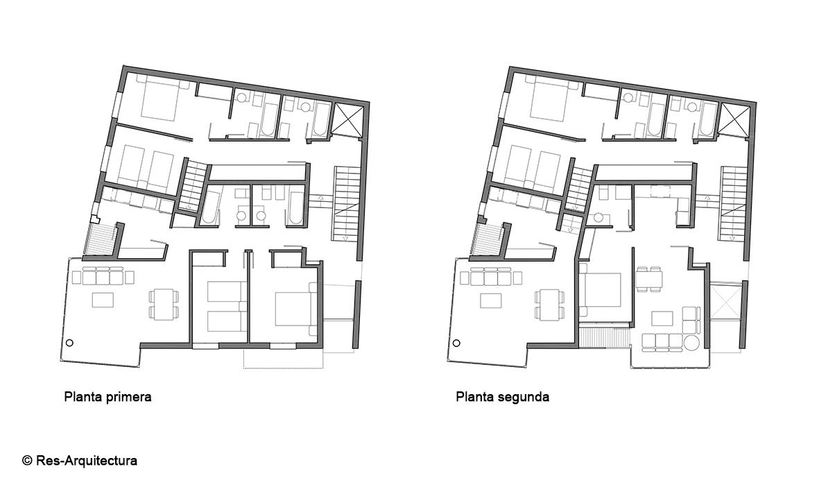 Edificio de viviendas. Plantas 1ª y 2ª
