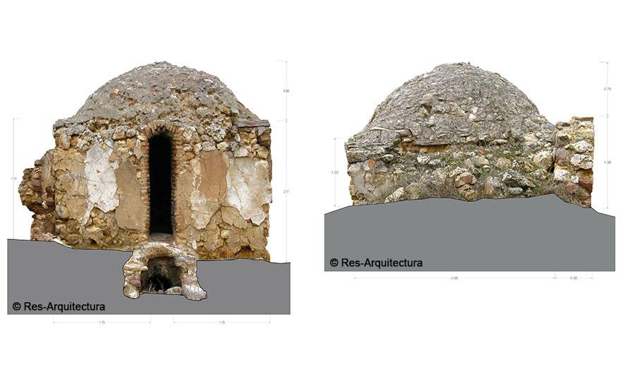 Conjunto del horno de cáñamo de Concud. Fotoplano de levantamiento