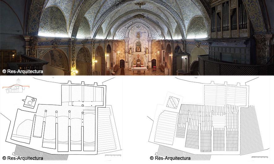 Iglesia de la Asunción de María de Vallibona. Vista interior y plantas