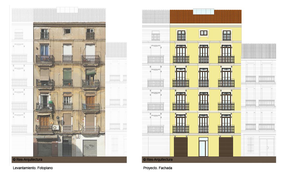 Z:\Viviendas Calle Cuba 16\Respuesta al ayto - nov 2013\Fotoplano\Alzado propuesto 2013-11-25 Presentación1 (1)